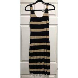 Bebe Striped Midi Dress